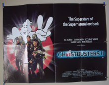Ghostbusters 2 (1989) Dan Aykroyd, Bill Murray Film Poster - UK Quad